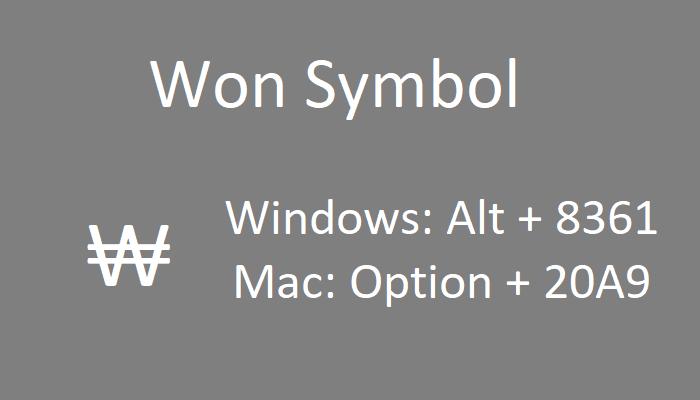 Won Symbol