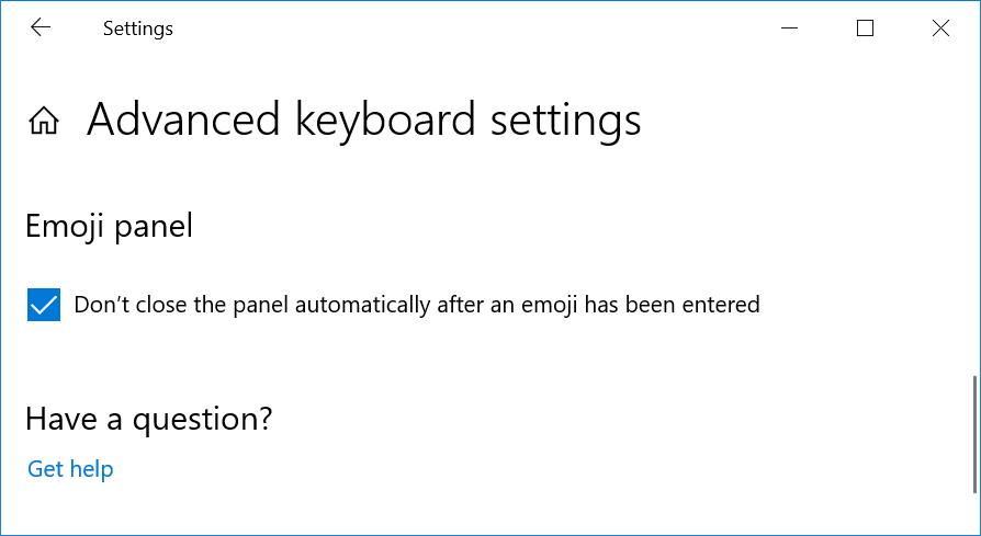 Emoji Panel Setting